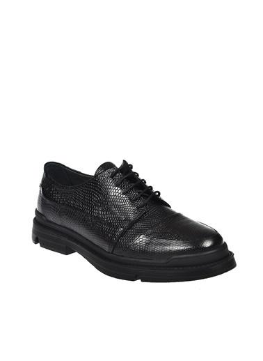 Dr.Flexer 522401 HakıkıDerıErkek Comfort Ayakkabı Sıyah Açma Siyah